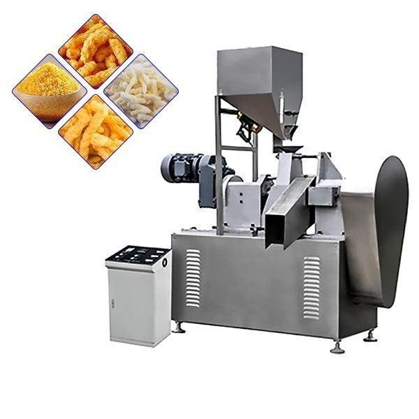 Fried Baked Cheetos/Kurkure/Cheese Curls Twist Snacks Nik Naks Making Machine #1 image